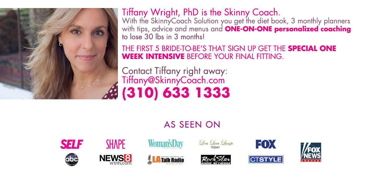 Skinny Bride Challenge - Tiffany Wright, Ph D  - The Skinny